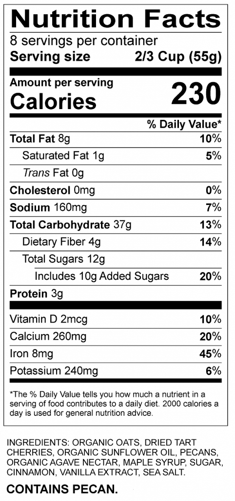 Nutrition Facts Services For Fda Food Label Compliance